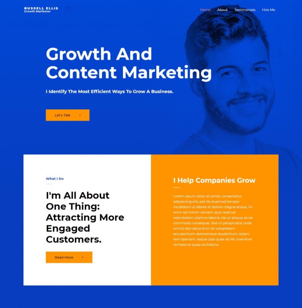 growth marketer template